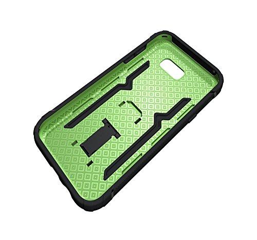 Carcasas y fundas Móviles, Para Samsung Galaxy A7 2017 A720 Funda, Cool a prueba de golpes Armor Hybrid 2 en 1 TPU y PC Robusto de doble capa con caja de Kickstand para Samsung Galaxy A7 2017 A720 ( C Green