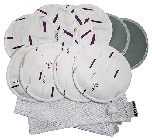 Stylish Organic Bamboo Nursing Pads By Ike & Leo- Ultra Soft & Absorbent, Leak-proof, Reusable Breastfeeding Pads- Top Eco-friendly, Breathable, Washable, Hypoallergenic Bra Pads — Pack of 5 Pairs