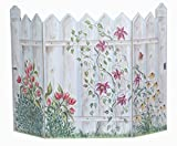 Stupell Home Décor Floral Picket Fence 3-Panel Decorative Fireplace Screen, 45 x 0.5 x 31, Proudly Made in USA