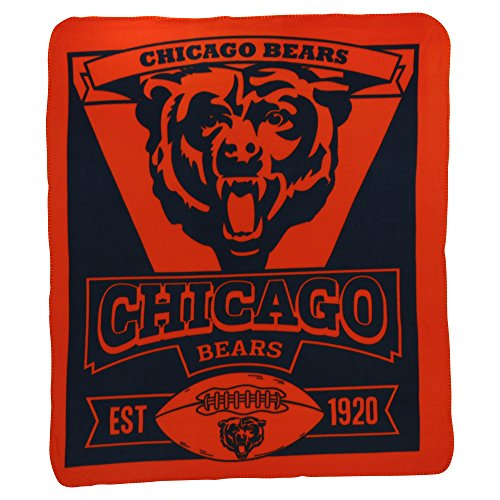 Northwest NFL Marquee Logo Lightweight Chicago Bears Fleece Blanket