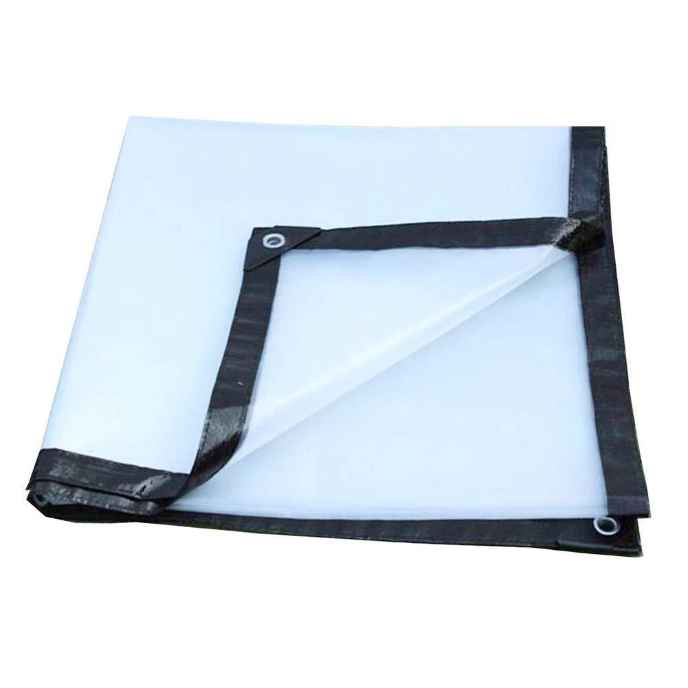 CLEAR 3X10M Tent, tarpaulin Toile imperméable de bÂche épaississent Le Tissu imperméable extérieur en Plastique Transparent imperméable, Taille Personnalisable