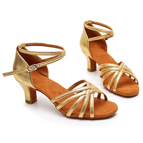 5cm Schuhe LP Tanzschuhe 213 Modell Gold Dance Satin HROYL Damen Latin Ballsaal wI1qOvvf8