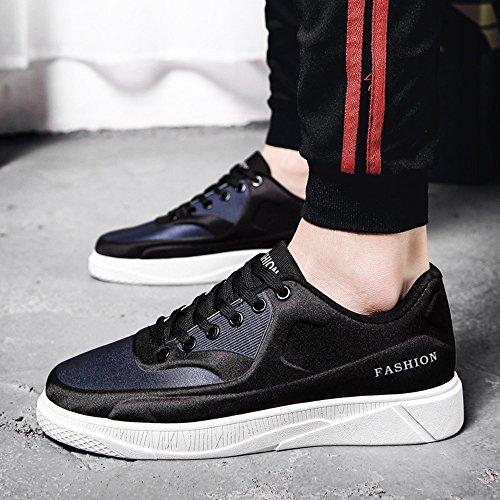 Men's Shoes Feifei Spring and Autumn Fashion Movement Leisure Wear-Resistant Plate Shoes 3 Colors (Color : 02, Size : EU39/UK6/CN39)