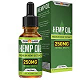 Hemp Oil Extract (1 fl oz) – Relaxation and Anti-Anxiety Formula – Peppermint Flavored – All Natural Ingredients – 30 Day Supply – Zen Labs For Sale