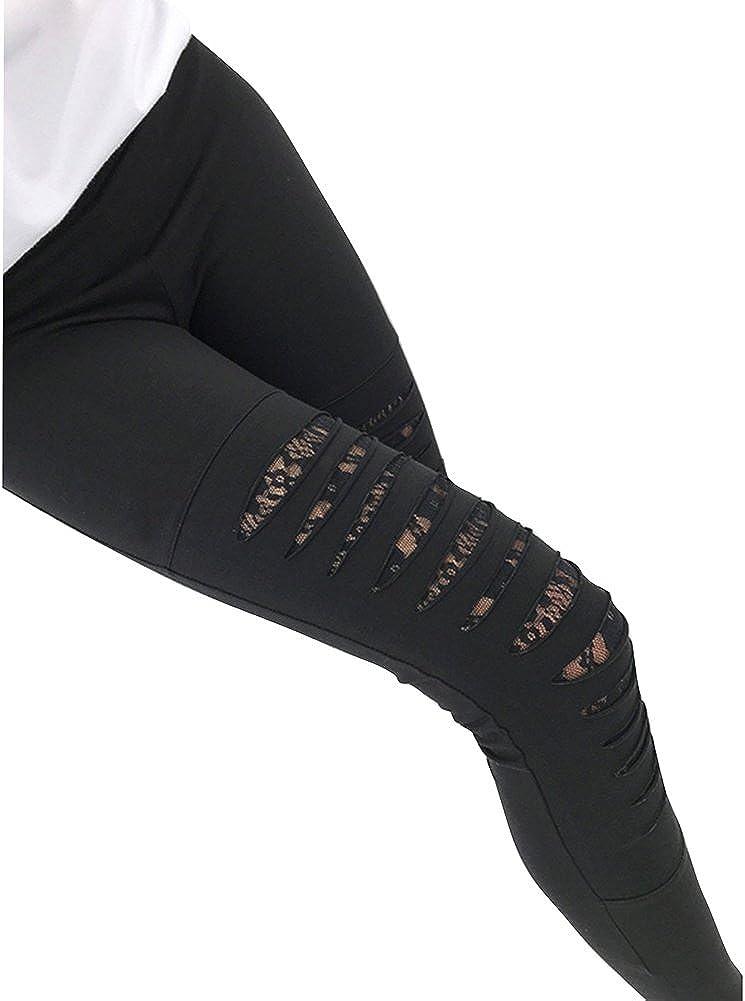 Pantalones Mujer Pantalones Rotos Moda Slim Fit Elastico Flacos Pantalones Fashion Agujero Roto Casual Pantalones Con Patchwork De Encaje Ropa Mk Primaria Ro
