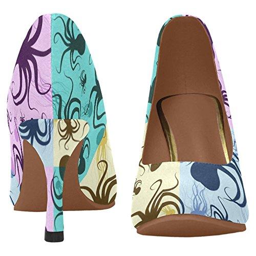 InterestPrint Womens Classic Fashion High Heel Dress Pump Shoes Multi 6 3NljLBAv72