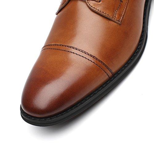 La Milano Para Hombre Oxfords Classic Modern Round Captoe Zapatos Splendo-1-cognac