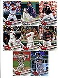 2017 Topps Cleveland Indians Complete Master Team Set of 35 Cards (Series 1, 2, Update): Carlos Carrasco(#31), Danny Salazar(#56), Francisco Lindor(#119), Carlos Santana(#121), Cleveland Indians(#122), Yan Gomes(#137), Tyler Naquin(#203), Rajai Davis(#239), Corey Kluber(#257), Coco Crisp(#281), Brandon Guyer(#312), Josh Tomlin(#342), THEY GOT HOPS(#378), Roberto Perez(#419), Andrew Miller(#422), Cody Allen(#436), Jason Kipnis(#480), Jose Ramirez(#487), Trevor Bauer(#533), plus more