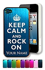 Engraved Aluminum Samsung Galaxy Note3 - KEEP CALM AND ROCK ON - Personalized for FREE (Click the CONTACT SELLER link after purchase to tell us your case color and engraving request) Kimberly Kurzendoerfer