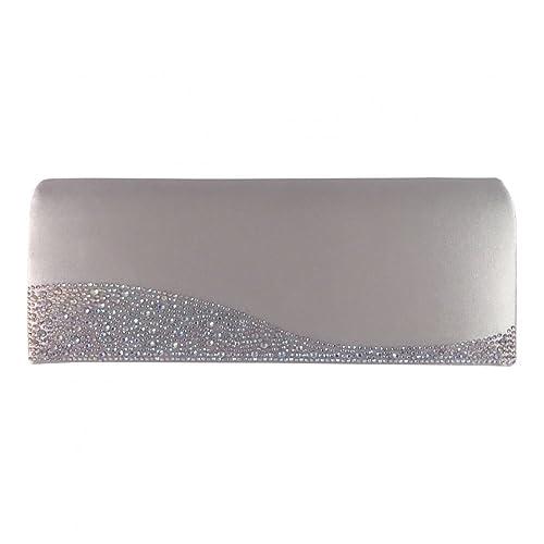 1ab722918a Glamour in argento satinato e strass per creare pochette a maglia:  Amazon.it: Scarpe e borse