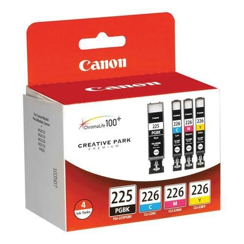 Price comparison product image Canon PGI225CLI226 Ink Cartridges, Black, Cyan, Magenta, Yellow