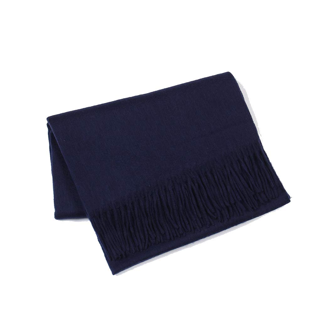 Navy Scarf, Pure Wool Thick Shawl, Autumn and Winter Soft Scarf, 70x200cm (color   Military Green)