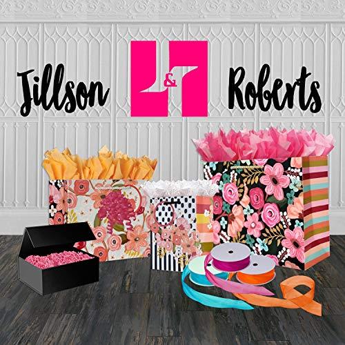 Jillson Roberts 4-Count Jumbo All-Occasion Magnetic Closure Gift Boxes, Black Gloss