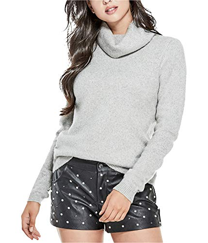 GUESS Womens Reversible Knit Sweater Grey M ()