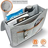 Premium Bedside Caddy Organizer - Heavy Duty