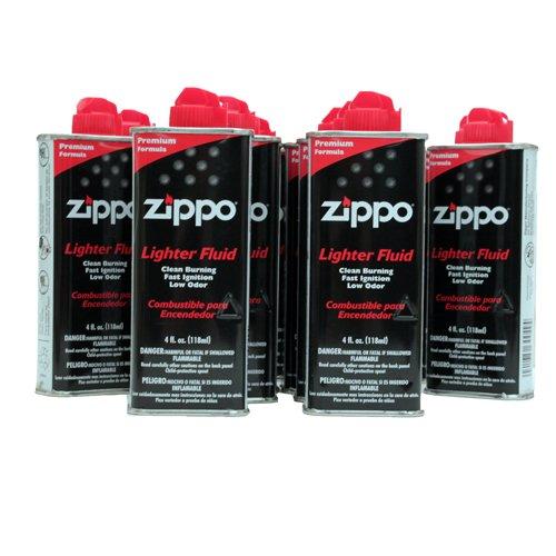 Zippo (1) 4 OZ. FUEL (1) FLINT AND (1) WICK SET