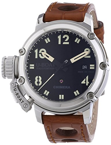 U-Boat Chimera Automatic Black Dial Brown Leather Watch 7226