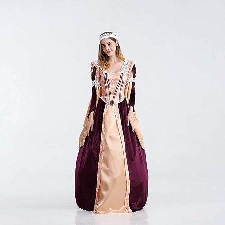 YRE Europeo Retro Corte Vestido, Vestido de Noche de Las ...