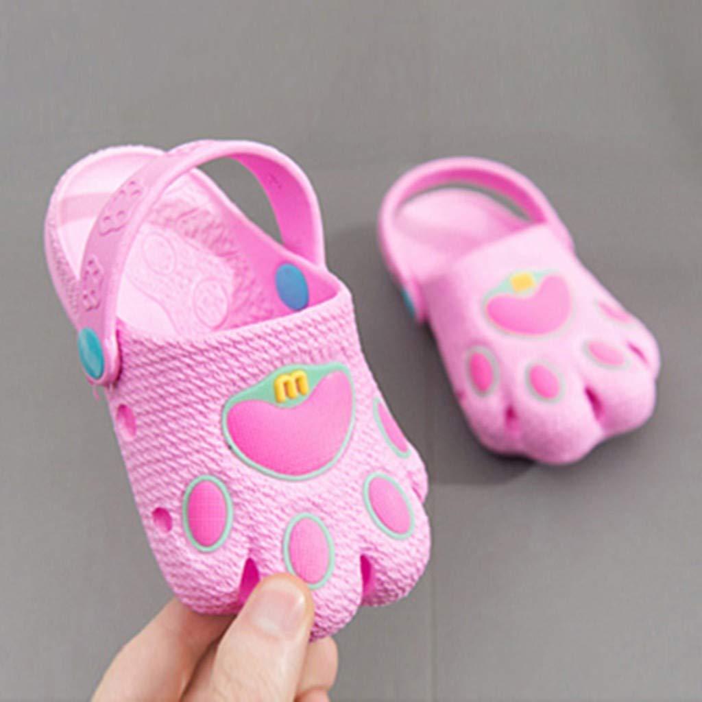 Kids Baby Boys Girls Cartoon Paw Cute Hollow Beach Sandals Casual Shoes Voberry
