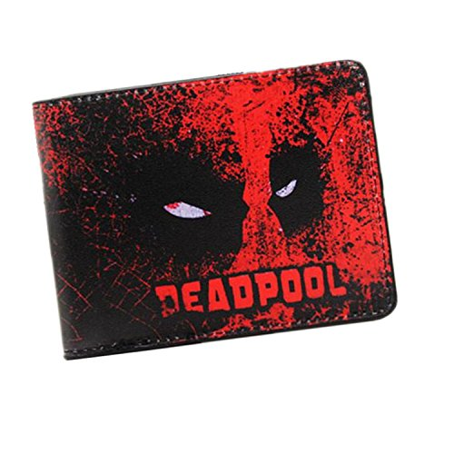 Hot Sell PU and PVC Purse American Marvel Comic Deadpool Wallet for Young Men and Women Dollar Price PU 013