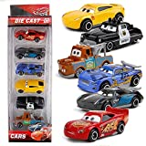 PLUSPOINT A Exclusive Die cast Metal Body Pull Back & Push n Go Set of Cars for Kids (Lightning McQueen,Cruiz Ramirez, Jackson Storm, Maytor -Smokey) Toy Vehicles (Cars3 Set of 6)