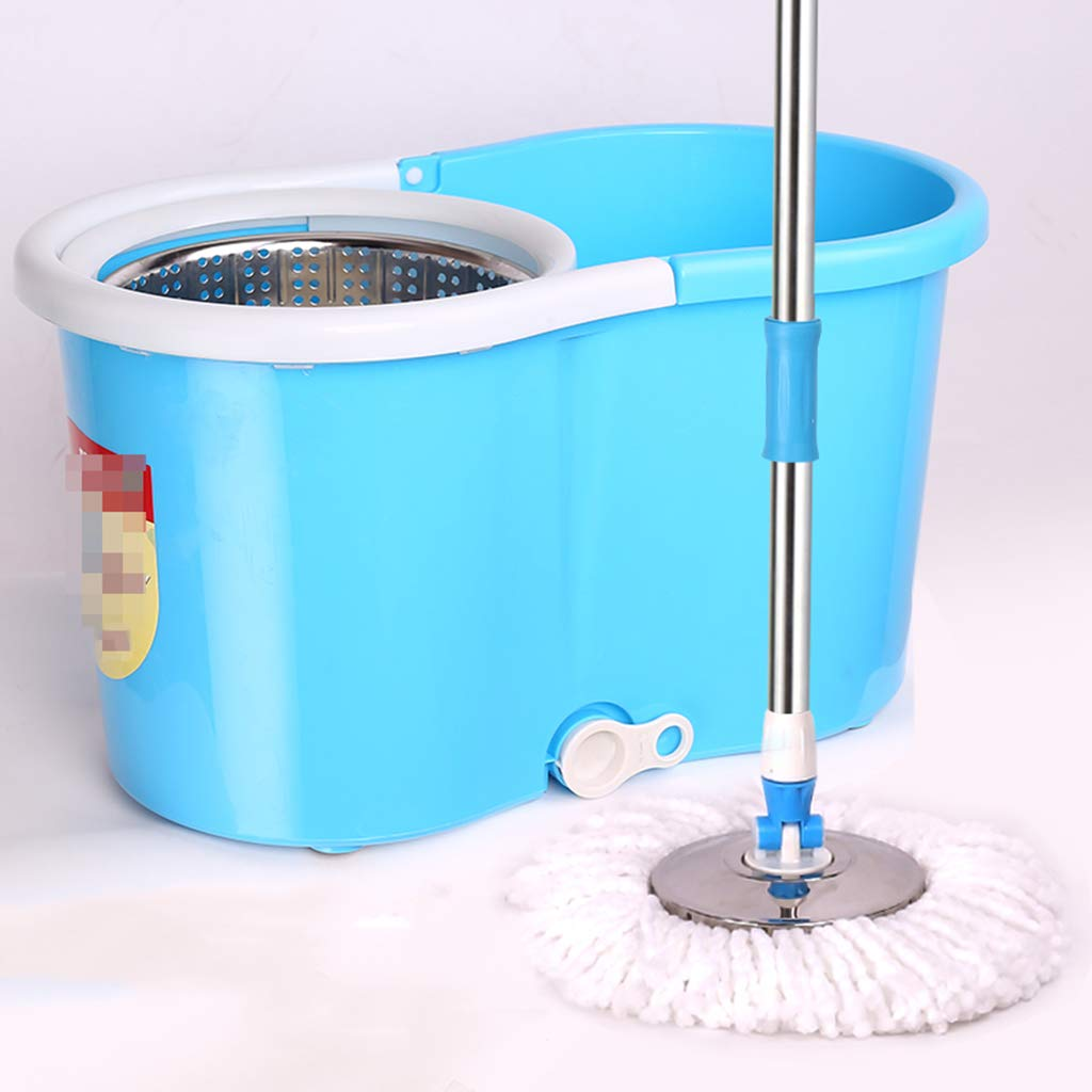 Rotary MOP Dual Drive Free Hand wash Home Automatically Drag Head to Drag mop mop Bucket Suitable for Cleaning Home Office Classroom and so on,Blue