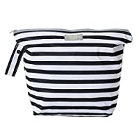 GroVia Zippered Wetbag, Onyx Stripe