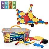 "USA Toyz STEM Engineering Building Kids Toys - ""QUARKS"" 160 Pc STEM Building Educational Toys w/ Multilink Spheres for Kids Toys Construction"
