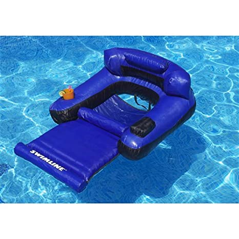 Amazon.com: Ultimate Fabric Covered Lounger Swimming Pool Float ...