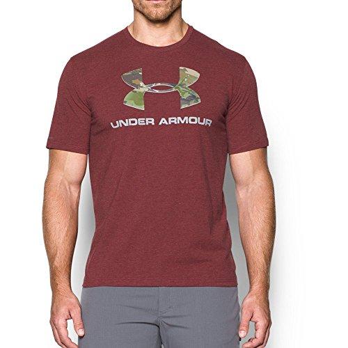 Under Armour Men's Camo Fill Logo T-Shirt, Cardinal, Large