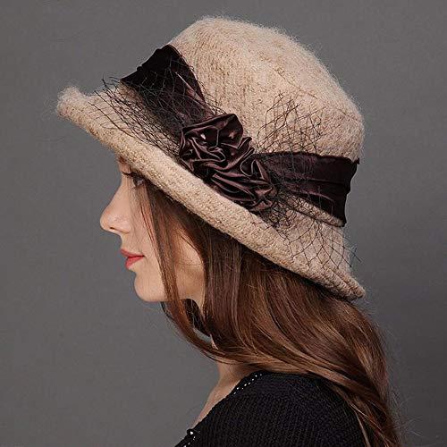 Invierno Rizado Gorro Elegante Cómodo Británico Hat Simple Mujer Pescador Para De Salvaje Brwon suitable E Otoño Zx Y cYndwfd8q