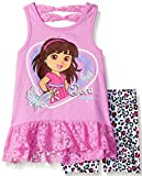 Nickelodeon Girls Dora The Explorer 2 Piece Ruffle Bike Set
