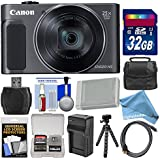 Canon PowerShot SX620 HS Wi-Fi Digital Camera (Black) with 32GB Card + Case + Battery + Charger + Flex Tripod + HDMI Cable + DigitalAndMore Deluxe Kit