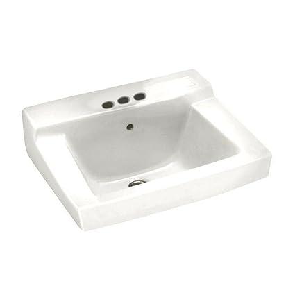 american standard 0321026020 declyn 4 inch centerset wall mount sink white - Wall Mount Sink