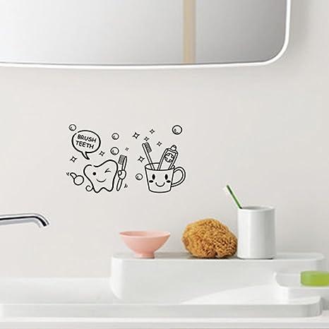 Ming Cepillo Dientes extraíble Pegatinas de Pared para Inodoro baño baño Sala de Descanso decoración