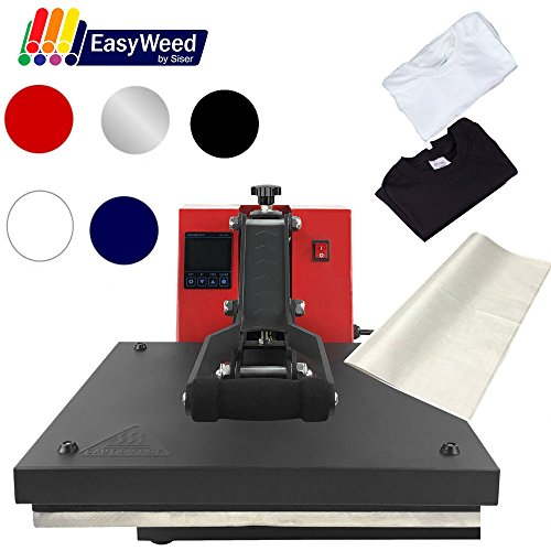 15''x15'' Digital Heat Press Machine, T-Shirts, Vinyl, Non Stick Sheet (STARTER BUNDLE) by Greenstar