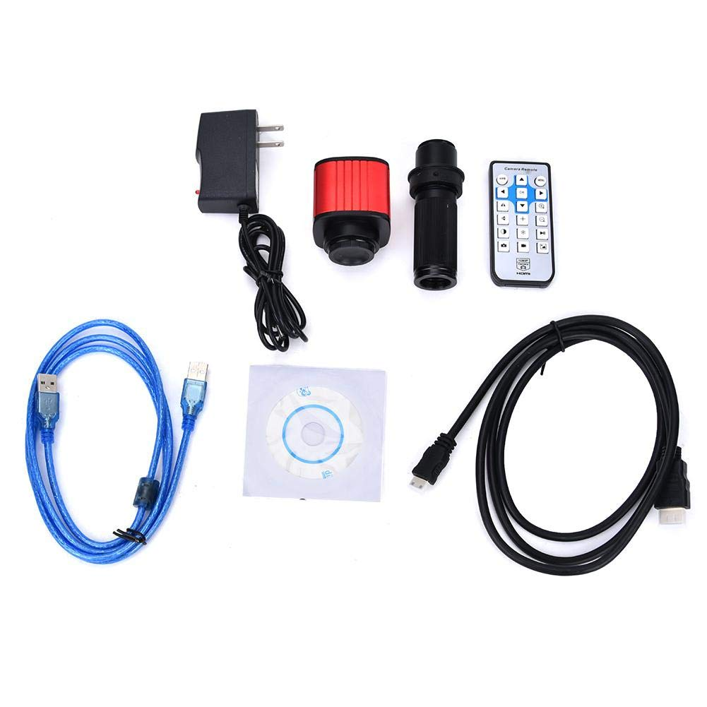 Microscope Camera,1080P HDMI 4608x3456 USB C-Mount Electronic Industrial Microscope Camera 100-240V (US Plug) by Yanmis