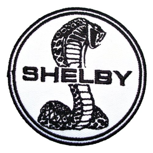 Ford Cobra Shelby Mustang Coupe GT500 Logo Racing Jacket T-shirt Patch Sew Iron on Embroidered Badge Emblem Sign Size 3
