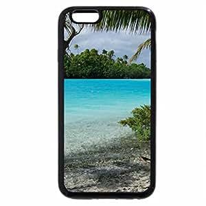 iPhone 6S / iPhone 6 Case (Black) One Foot Island Aitutaki Cook Islands - paradise beach and blue lagoon