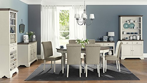 Coastlink Hollywood Extension Oval Dining Table Set for 8 - Roll Back Parson Chairs