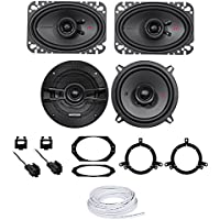 Jeep Wrangler 1997-2002 Kicker KSC464+KSC54 Replacement Of Factory Speakers+Wire