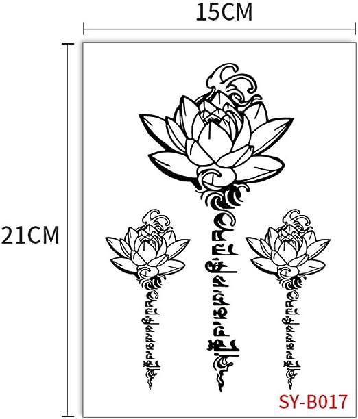 zgmtj Flor del Brazo Masculino y Femenino Tatuaje Tatuaje ...