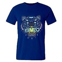 DHSVXBBBB Mens T-shirts Kenzo Logo 2016 Royal Blue Size XXL