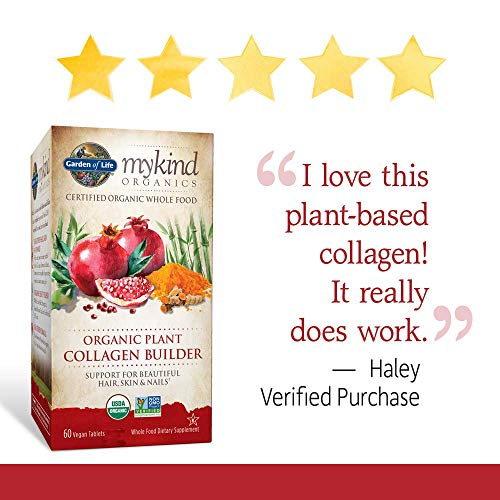 Garden Of Life Mykind Organic Plant Collagen Builder Vegan Collagen Builder For Hair Skin And