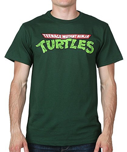 Mens Teenage Mutant Ninja Turtles TMNT Logo T-shirt Small/Dark (Ninja Turtles Logo T-shirt)