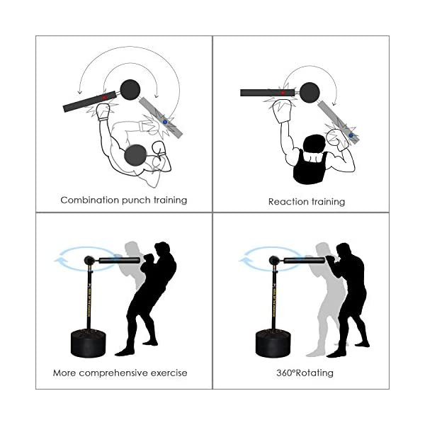 INNOLIFE MMA Boxing Speed Trainer Punching Bag Spinning Bar 2