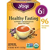 Yogi Tea - Healthy Fasting - Supports Detoxification - 6 Pack, 96 Tea Bags Total