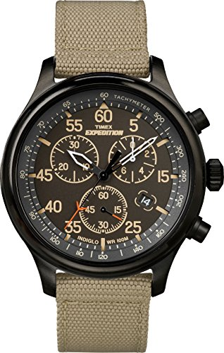 affordable Timex Men's TW4B10200 Expedition Field Chronograph Tan/Black Nylon Strap Watch