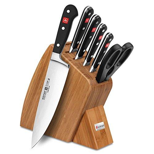 Bamboo Knife Block Set - Wusthof Classic 7-piece Slim Knife Block Set (Bamboo)