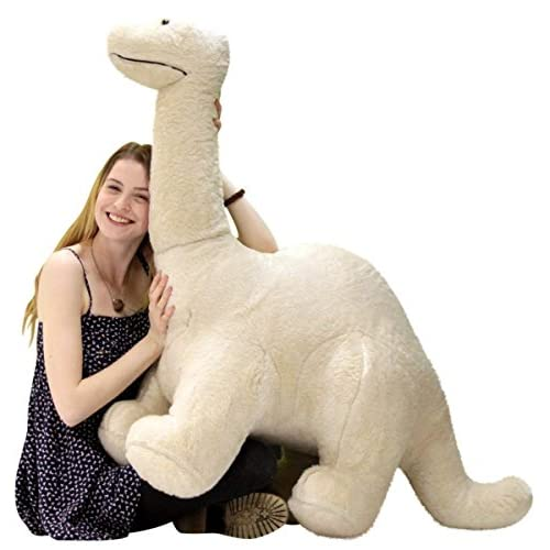 American Made Big Plush Papa Dinosaur, Soft Giant Stuffed Brontosaurus 4 Feet Long 3 Feet Tall Made in USA for cheap